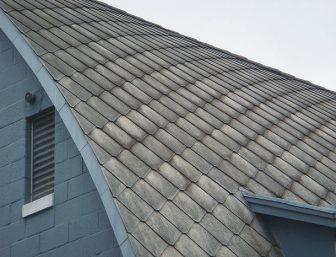 Asbestos cement roof tiles