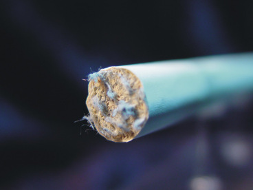 Asbestos in a cigarette filter