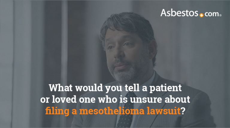 What to tell someone who is unsure about filing a mesothelioma lawsuit video