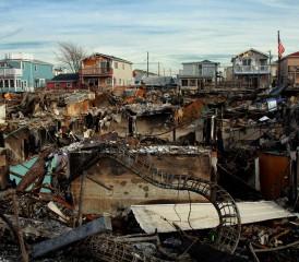 Destroyed City After Natural Disaster