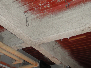 Asbestos fireproofing material