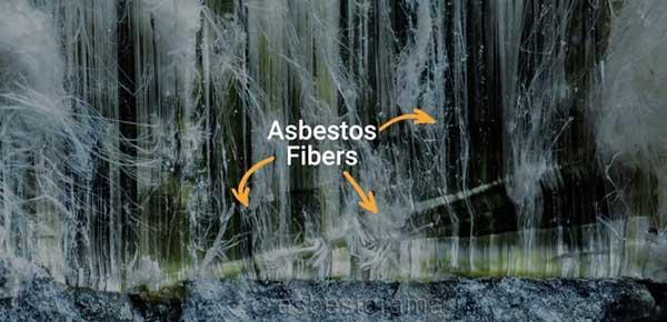 Canadian chrysotile asbestos close-up