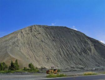 Asbestos mining dump in Quebec