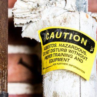 Warning on asbestos pipe insulation