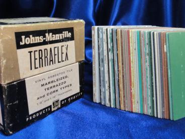 Asbestos vinyl tile