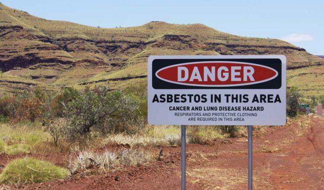 Asbestos warning in Wittenoom