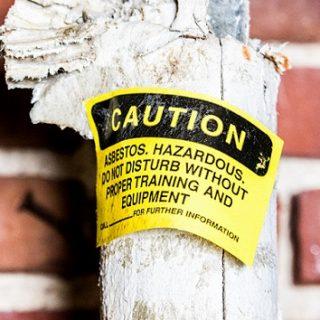 Asbestos caution tape