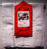 Asbestos blanket used by miners