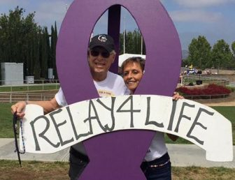Andy Ashcraft and his wife Ruth at Relay For Life