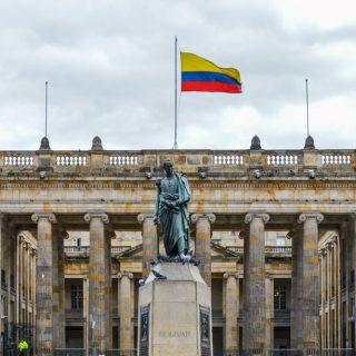 Bolivar Square in Bogota, Colombia