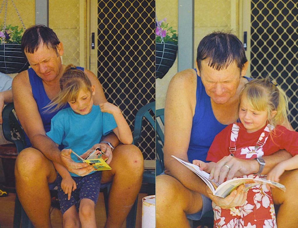 Brian Kember and his granddaughters Shannon and Kylie