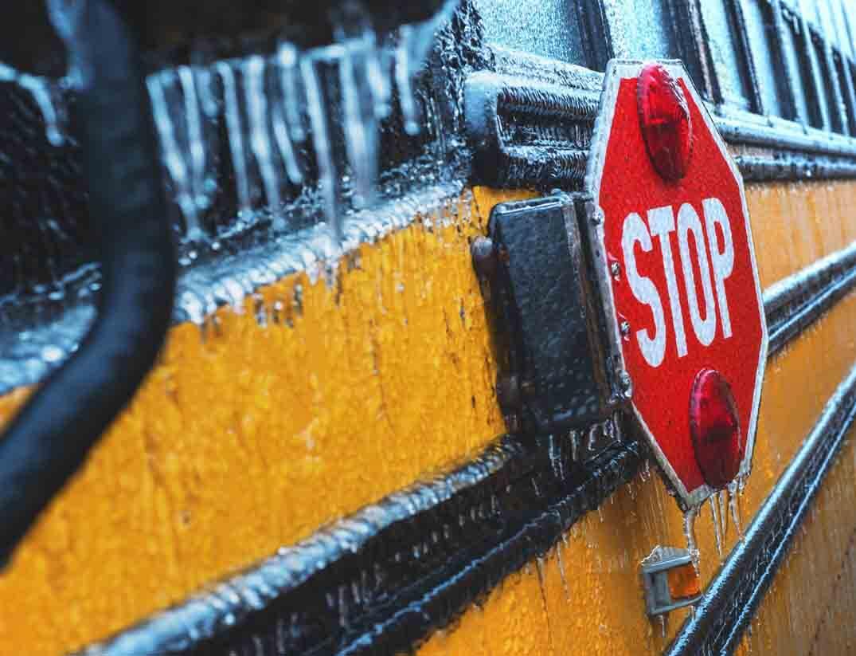 School Bus in Ice