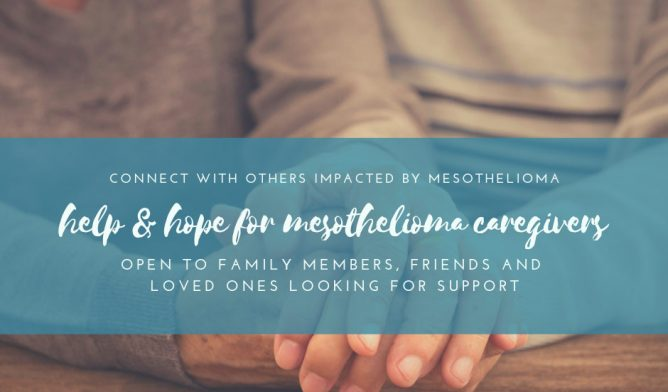 Mesothelioma caregiver Facebook group