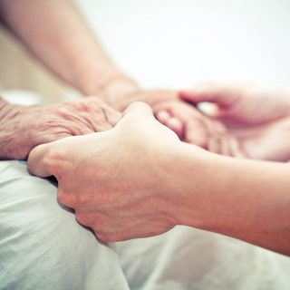 Caring comforting hands