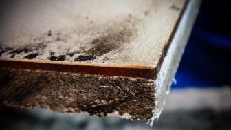 Close-up of asbestos cement sheet