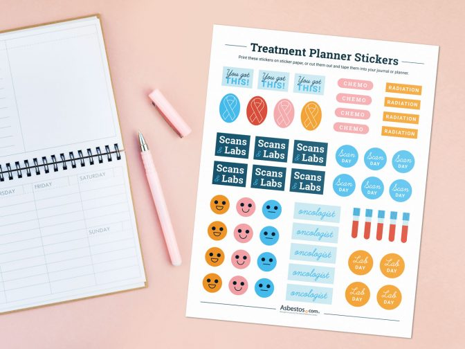 Cancer treatment journal and downloadable appointment stickers