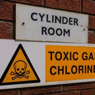 Chlorine cylinder room