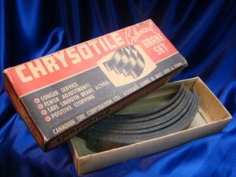 Box of chrysotile asbestos brakes