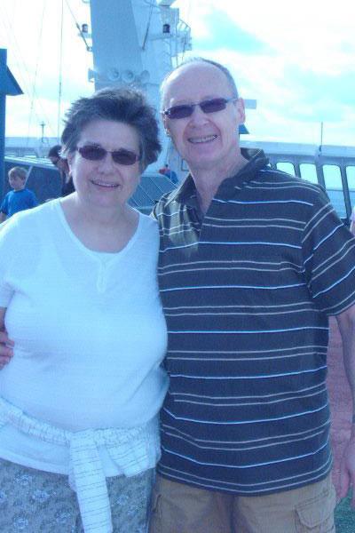 Chuck Gast, pleural mesothelioma survivor, with his wife