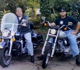 Chuck Jarvis & Dad on Motorcycles