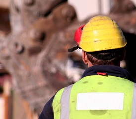 Construction worker in hard hat