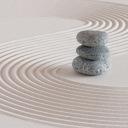 Zen garden with rocks