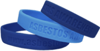Asbestos awareness wristbands from the Mesothelioma Center