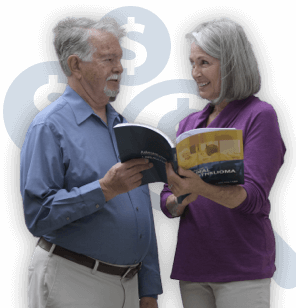 Couple reviewing financial assistance options