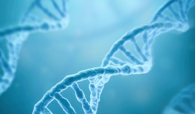 DNA stands illustration