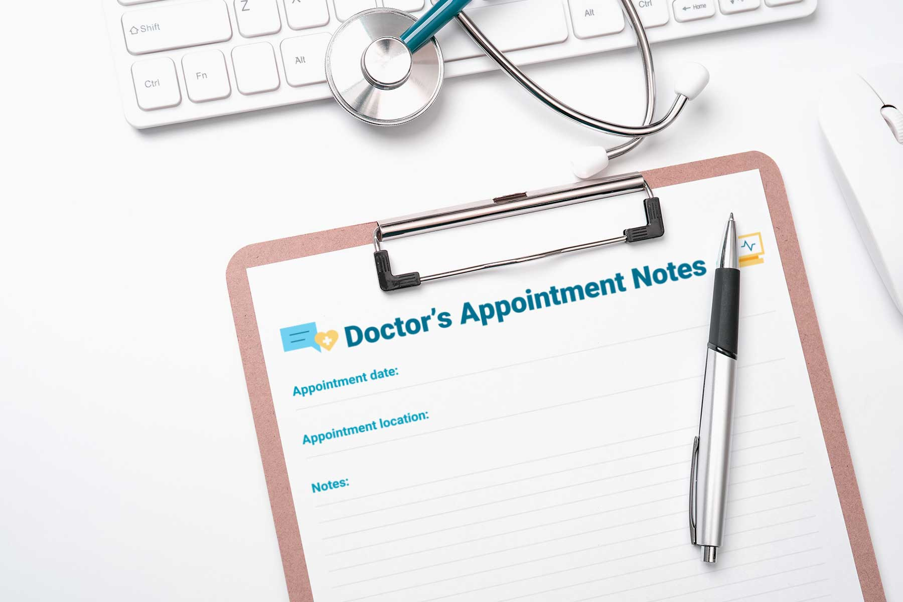 Printable doctor's appointment notes