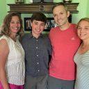 Mesothelioma survivor Doug Thomas with his family