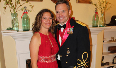 Colonel Doug Thomas and wife Tiffany