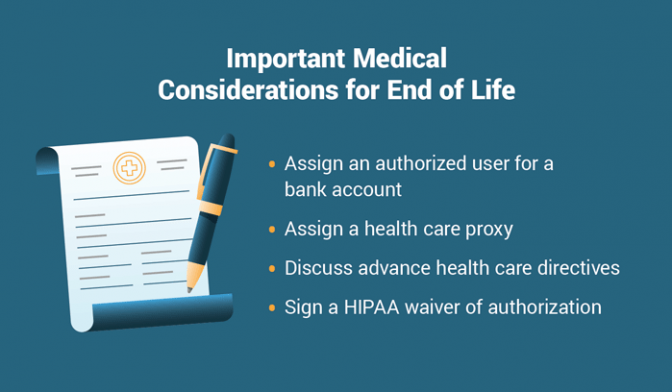 End-of-life medical considerations