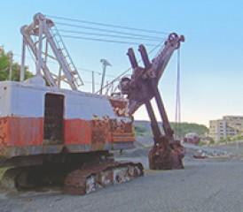 Tractor at asbestos site