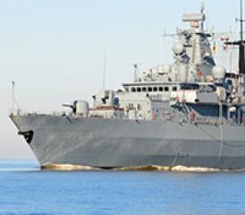 U.S. Navy ship on the ocean