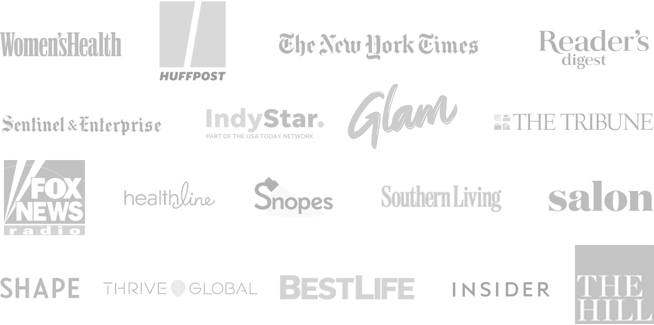 Logos of some of the publications we are featured in