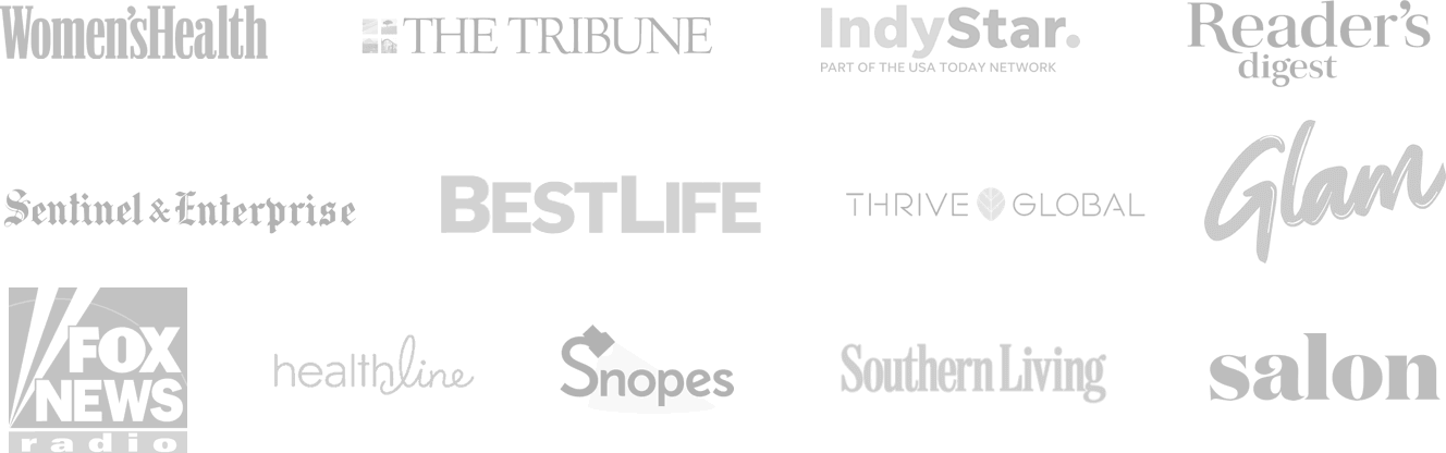 Publication logos where the Mesothelioma Center has been featured