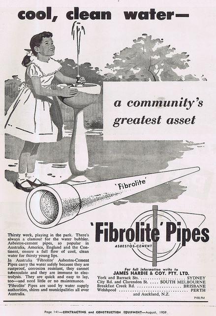 Fibrolite water pipes
