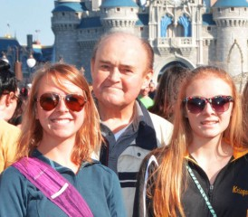 Frank S. with his family at Walt Disney World