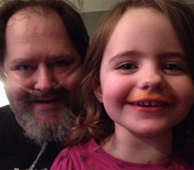 Mesothelioma Victim George Schottl and Daughter Smiling