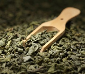 Green Tea Leaves with Scoop