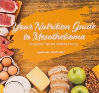 Mesothelioma nutrition guide cover page