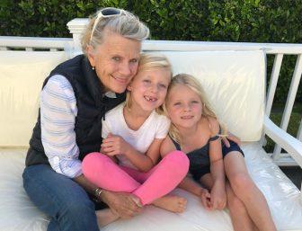 Hatsie with grandchildren
