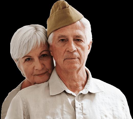 Veteran and caregiver