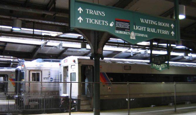 Hoboken terminal in New Jersey