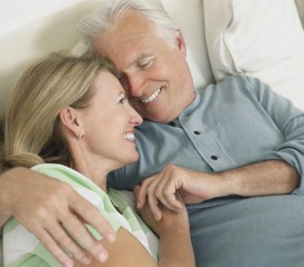 Older Couple Being Intimate