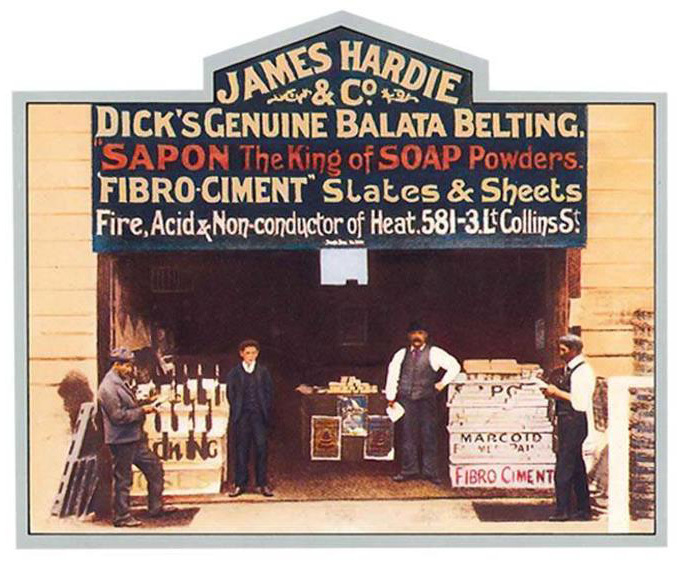 Old James Hardie storefront