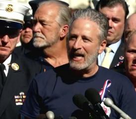 Jon Stewart Delivering Speech About First Responders