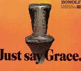 J.W. Grace ad for asbestos-covered I beams