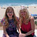 Mesothelioma survivor Karen Frantz with her daughter at the beach
